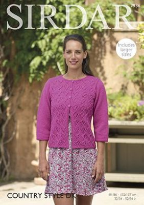 Sirdar Country Style DK - 7936 Cardigan Knitting Pattern